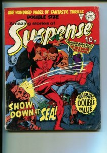 AMAZING STORIES OF SUSPENSE-#115-BRITISH-HORROR-DARE DEVIL-MANEELY--SCI FI-vg