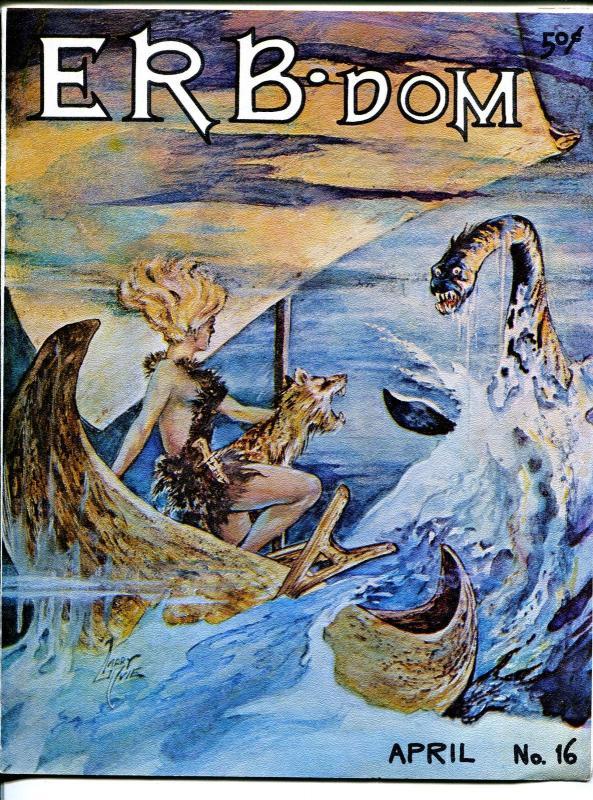 ERB-dom #16 1966-Edgar Rice Burroughs & Tarzan fanzine-Larry Ivie-VF