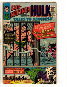 Tales To Astonish # 70 FN Marvel Comic Book Sub-Mariner Incredible Hulk FH2