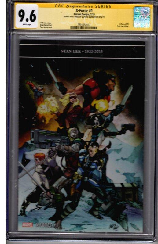Marvel! X-Force #1! Larraz Variant! CGC SS 9.6! Signed by Brisson & Burnett!