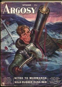 Argosy 9/1943-Popular--First bed-sheet issue-format change-Rafael DeSoto-pulp...