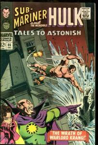 TALES TO ASTONISH #86-HULK-SUB-MARINER-MARVEL FN
