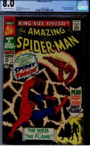 Amazing Spider-Man Special #4 CGC 8.0 OW/WHITE  MYSTERIO, Wizard, Human Torch