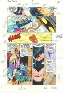 Original D.C. Color Guide Team Titans #7 Pg 5-- Phil Jiminez