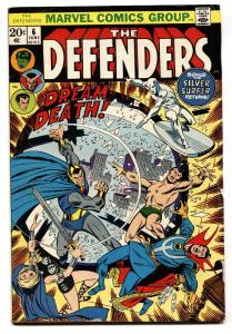 THE DEFENDERS #6 comic book 1973  Valkyrie -Silver Surfer