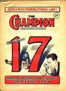 Champion 7/12/1930-U.K. published-dime novel-Sinister 17-VG