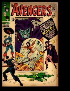 Avengers # 26 FN Marvel Comic Book Hulk Thor Iron Man Captain America Vision NE3