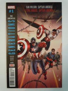 Generations:Sam Wilson:Captain America &Steve Rogers:Captain America#1(2017)2nd