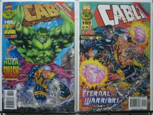 CABLE (1993) 34-35  ONSLAUGHT PHASE 1 & 2' vs HULK !