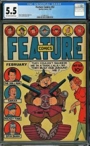 Feature Comics #53 (Quality Comics, 1942) CGC 5.5
