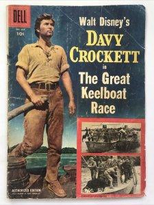 Four Color 664 Walt Disney's Davy Crockett in The Great Keelboat Race