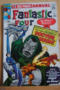 Fantastic Four Annual #2, Dr. Doom Origin, 6.0, ow/white pages