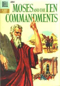Dell Giant Comics: Moses and the Ten Commandments #1, VG (Stock photo)