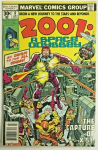 2001 A SPACE ODYSSEY#8 VF 1976 FIRST MACHINE MAN MARVEL BRONZE AGE COMICS