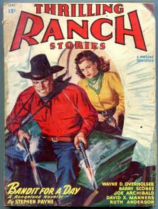 Thrilling Ranch Stories September 1947- Joe Archibald- Stephen Payne VG-
