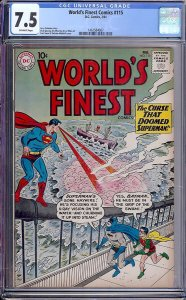 World's Finest Comics #115 (DC, 1961) CGC 7.5