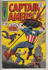 Captain America #105 (Sep-68) FN/VF Mid-High-Grade Captain America