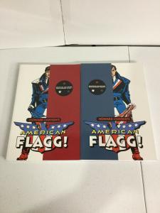Howard Chaykin's American Flagg! Definitive Edition Vol 1 2 TPB Lot Nm Image SC