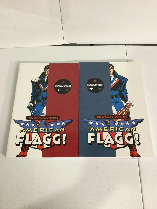 Howard Chaykin's American Flagg! Definitive Edition Vol 1 2 TPB Lot Nm Image SC