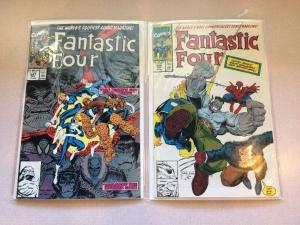 Fantastic Four 347 348 2 Book Near Mint Lot Set Run New Team