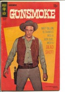 Gunsmoke #4 1969-Gold Key-James Arness TV series photo cover-Matt Dillon-VG