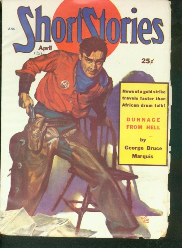 b44dcfed SHORT STORIES PULP 1951 APR ERNEST HAYCOX RCMP STORY VG/FN / HipComic