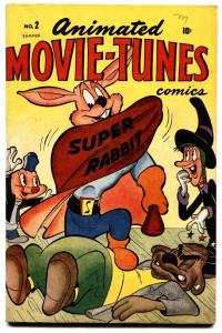 Animated Movie-Tunes #2 1946 Timely Funny Animal Super-Rabbit