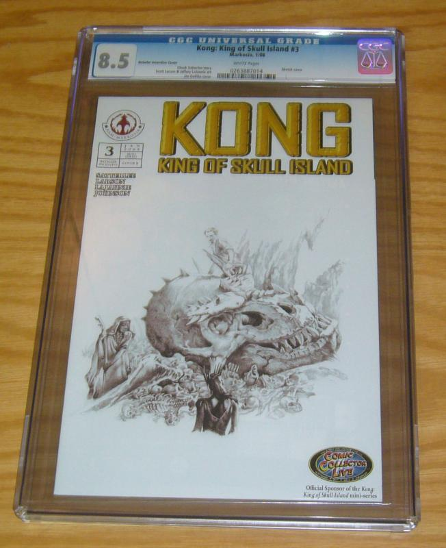 Kong: King of Skull Island #3 CGC 8.5 retailer incentive sketch variant cover B