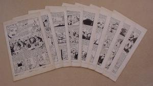BRENDA STARR #13 - COMPLETE 9 PAGE ORIGINAL ART STORY .1950. HISTORIC - CASINO