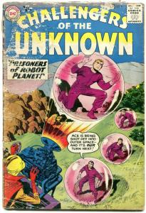 Challengers of the Unknown #8 1959- DC Silver Age reading copy