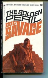 DOC SAVAGE-THE GOLDEN PERIL-#55-ROBESON-VG-JAMES BAMA COVER-1ST EDITION VG