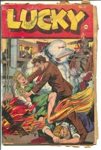 Lucky #2 1945-Consolidated-H C Kiefer strangulation pyromaniac cover-Lucky St...