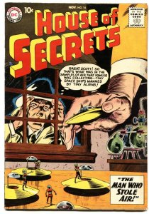 HOUSE OF SECRETS #14-1958-FLYING SAUCER COVER-MYSTERY & SCIENCE FICTION-HORROR