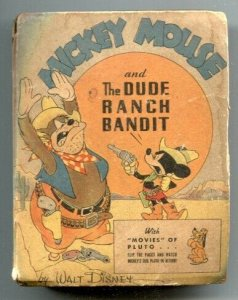 Mickey Mouse and the Dude Ranch Bandit Big Little Book 1945