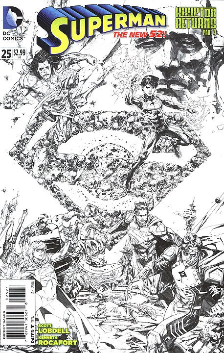 SUPERMAN  (2011 Series)  (DC NEW52) #25 VARIANT Near Mint Comics Book
