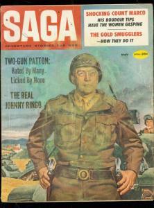 SAGA MAGAZINE MAY 1960-PATTON COVER-JOHNNY RINGO-RARE G-