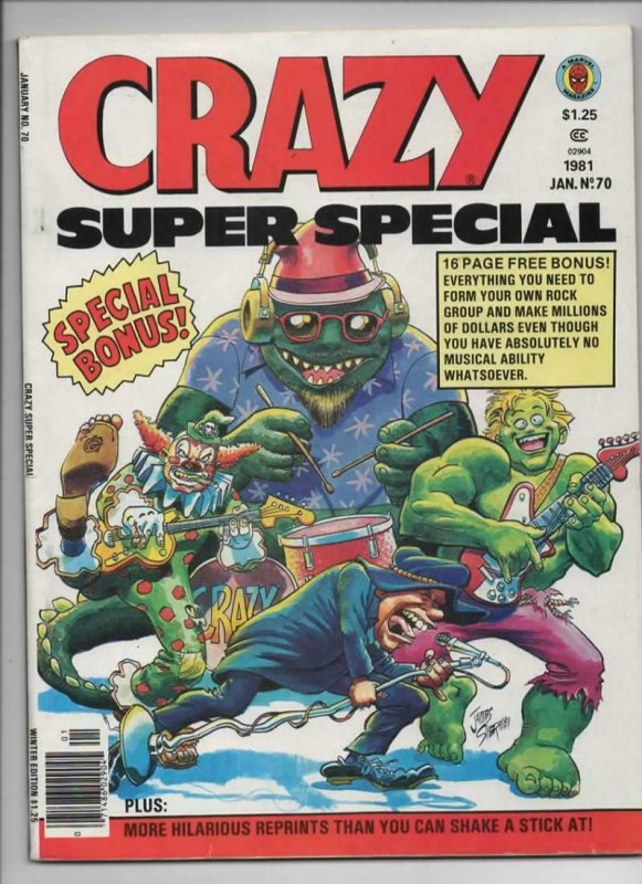 CRAZY #70 Magazine, FN+, Towering Inferno, Super Special, 1973 1981, Marvel