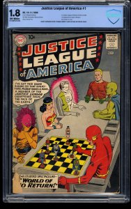 Justice League of America #1 CBCS GD- 1.8 Off White