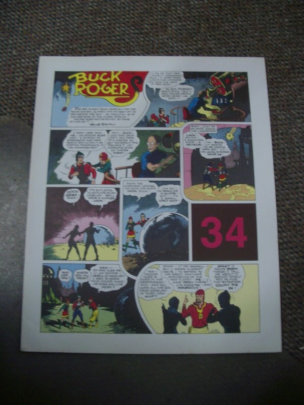 BUCK ROGERS #34-ITALIAN SUNDAY STRIP REPRINTS-CALKINS FN