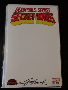 DEADPOOL'S SECRET WARS #1 VARIANT SIGNED BY GEORGE PEREZ WITH COA