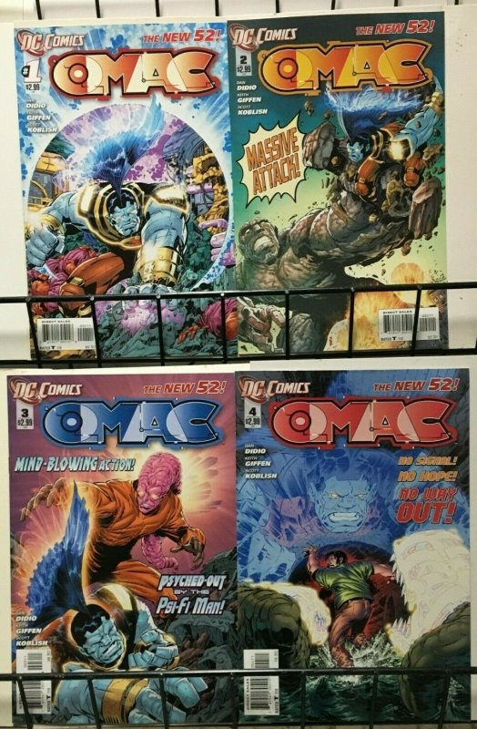 OMAC: THE NEW 52 - DC COMICS - #1-#8 - 2011-12 VF or Better - Didio Giffen