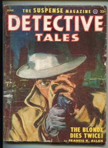DETECTIVE TALES 06/1953-POPULAR PUBS-SUSPENSE-CRIME-PULP-HARD BOILED-MYSTERY-vg