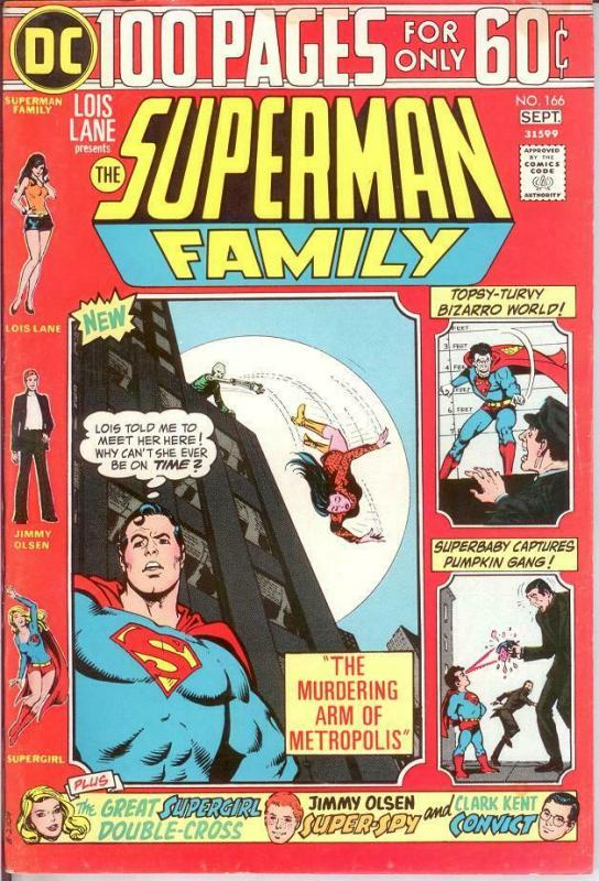 SUPERMAN FAMILY 166 FINE Sept. 1974 COMICS BOOK