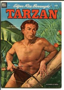 TARZAN #39-1952-DELL-BURROUGHS-MARSH-LEX BARKER PHOTO COVER-vf