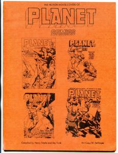 Fiction House Covers of Planet Comics fanzine 1978- artists FN