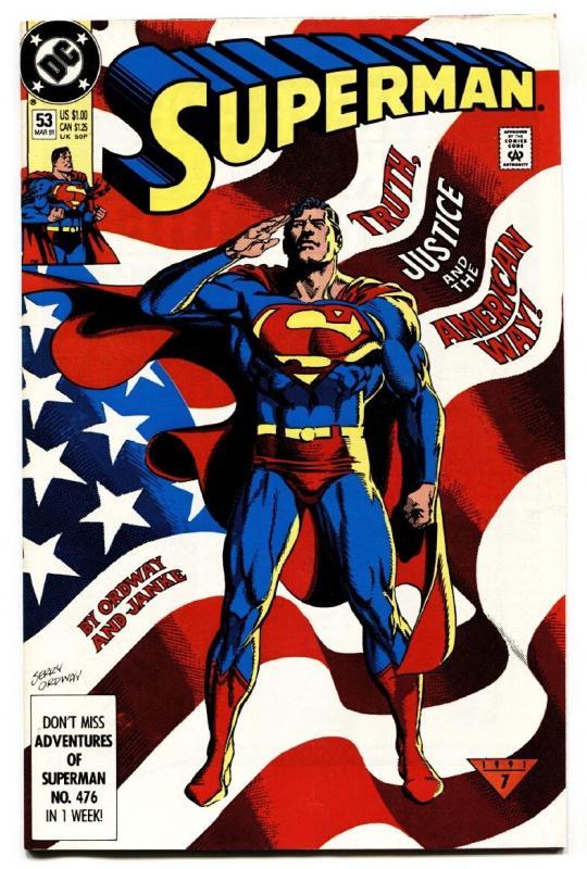 SUPERMAN #53-1991-classic cover-dc-