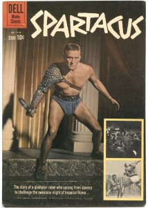 SPARTACUS #1139-KIRK DOUGLAS PHOTO COVER-MOVIE EDITION-DELL FOUR COLOR--1960