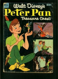PETER PAN TREASURE CHEST 1953-DELL GIANT-DISNEY-DONALD DUCK VG