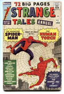 STRANGE TALES ANNUAL #2--early spider-man-kirby-ditko-nice copy