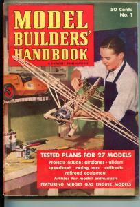 MODEL BUILDERS HANDBOOK #1 1939-1ST ISSUE-MIDGET RACERS-SOUTHERN STATES-vg